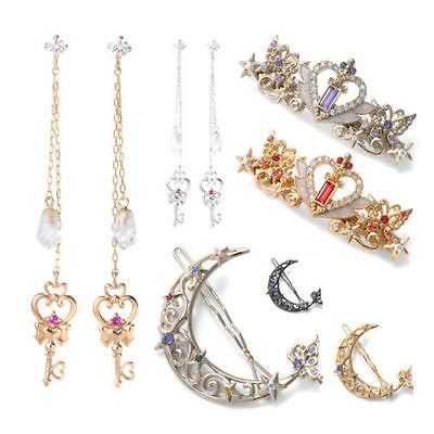 Sailor Moon 20th Anniversa Tsukino Usagi earrings ear pendants crown hair grips