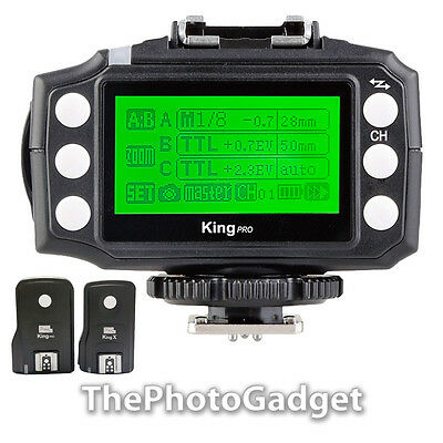 Pixel King Pro E-TTL Wireless Flash Trigger for Canon with LCD Display 1TX + 1RX