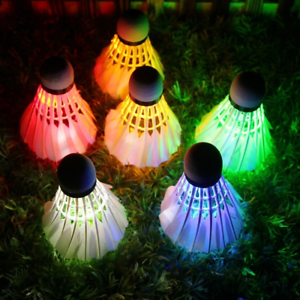12PCS KEVENZ LED Shuttlecock Badminton Set Dark Night Glow Birdies Lighting