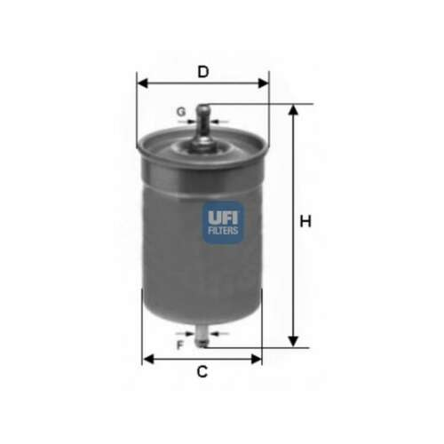 Fits Jaguar XJS 5.3 Genuine UFI Fuel Filter