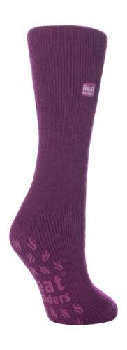 Heat Holders 2.3 tog  Ladies Thermal Slipper Anti slip Gripper Socks Lavender