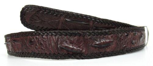 "Genuine Real Backbone Crocodile Skin Alligator Leather Men/'s Brown Belt 35-45/"""