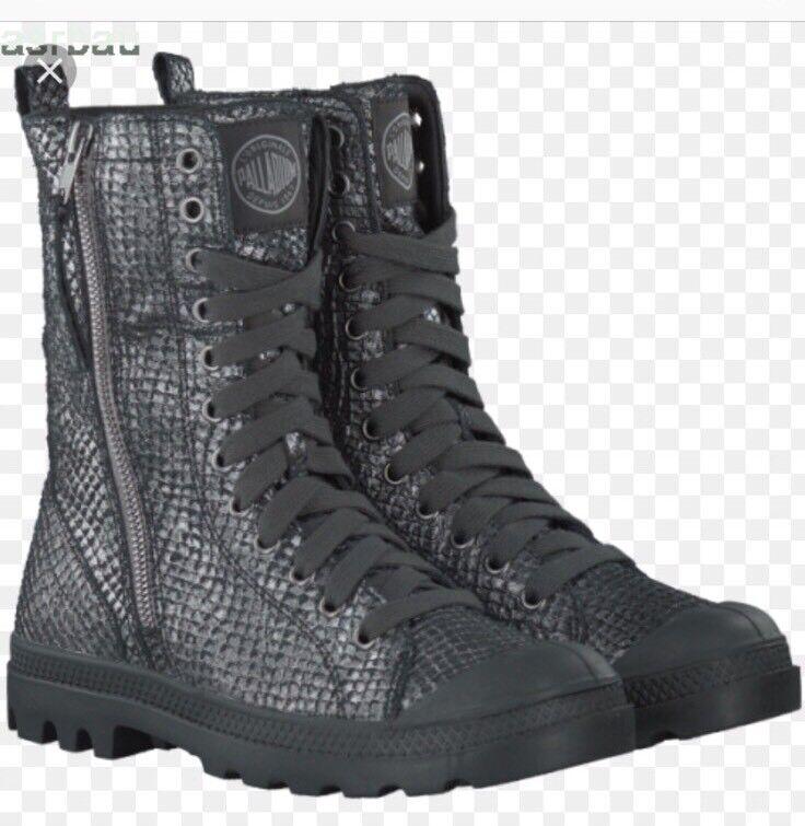 Plata Palladium Pampa Hi botas botas botas Talla 5.5 de EE. UU.  punto de venta en línea