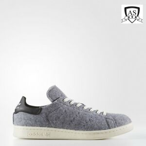 buy popular 182a6 b3392 Adidas STAN SMITH PC Men's WOOL WINTER Shoes Grey AQ8452 size 5 | eBay