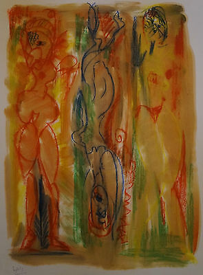 "Pastel "" Composition To The 3 Women "" Robert Calix 1919/2008"