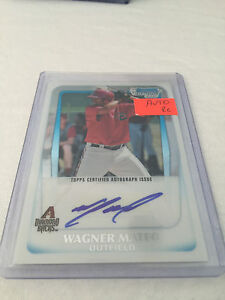 2011-Bowman-Chrome-Prospects-Wagner-Mateo-Diamondbacks-autograph-BCP88