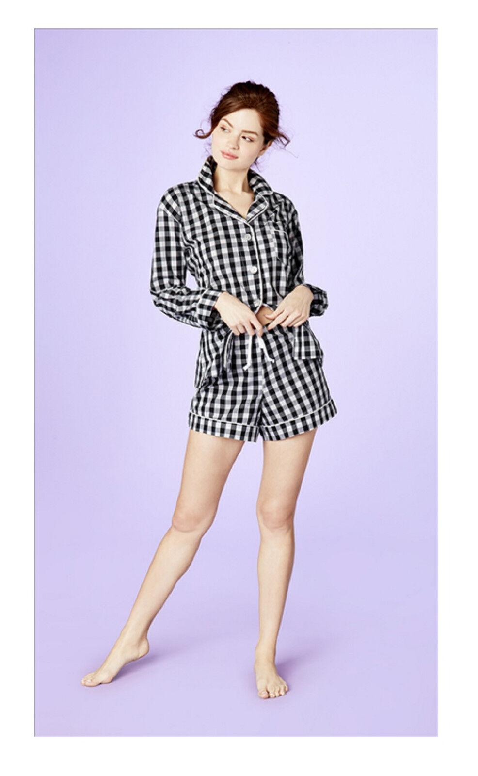 BedHead BedHead BedHead Negro Gingham Algodón L S Clásico Shorty Pijama Conjunto 1177-CF6-5853 dd168d