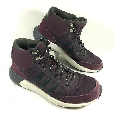 GUC Women's Adidas Cloudfoam Race Winter Mid Running Shoes Purple Sz 9   eBay