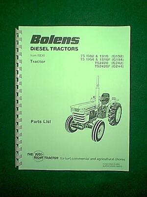 BOLENS ISEKI DIESEL TRACTOR MODELS G192 G194 G242 G244 PARTS MANUAL | eBayeBay