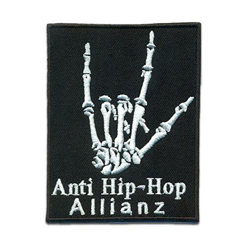 Biker Zitat Spruch Anti Hip-Hop Allianz Bügelbild Auf Patches Aufnäher