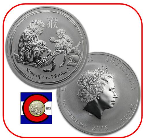 Series II from Perth Mint in Australia 2016 Lunar Monkey 1 oz Silver Coin