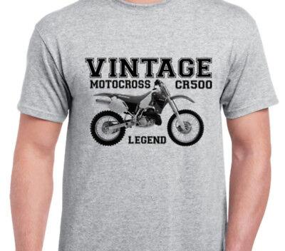 HONDA CR500 86 INSPIRED VINTAGE MOTOCROSS TWINSHOCK EVO SHIRT tshirt