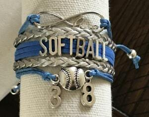 Personalized-Infinity-Softball-Bracelet