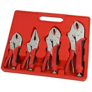 4pc-Heavy-Duty-Rubber-Grip-Wrench-Set-Vice-Locking-Lock-Pliers-Mole-Grips-Tools