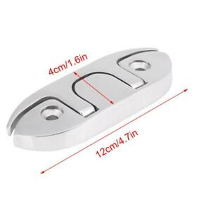 Marine-Boat-Flip-Up-4-1-2-034-Folding-Cleat-Dock-Stainless-Steel-w-Fasteners-HH