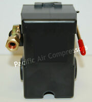 Heavy Duty Air Compressor Pressure Switch 95-125 Psi Adjustable 4 Port 1/4''