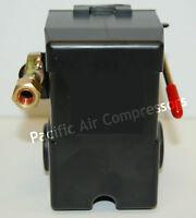 Black Max Air Compressor Pressure Switch 120 Volt 95-125 Psi Adjustable 4 Port