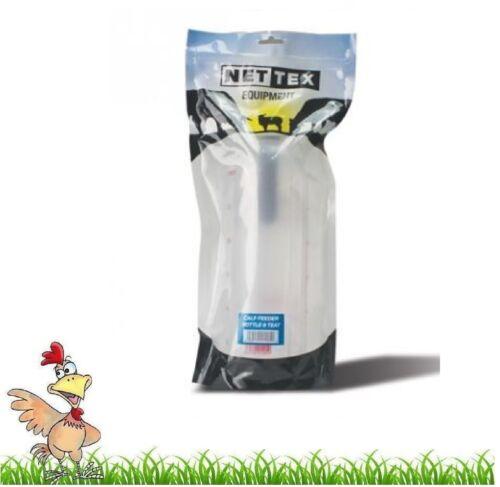Alimentador de becerro Nettex Botella /& tetilla No Vac sistema Pantorrilla calostro Alimentador