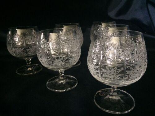 Czech bohemia crystal glass - Brandy 10cm 6pc