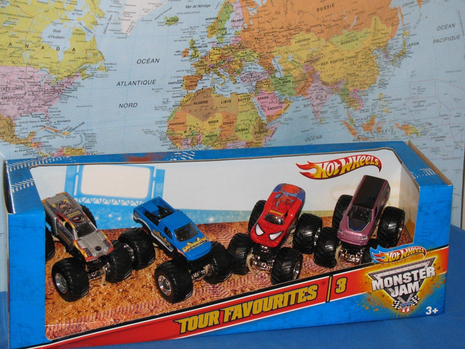 Hot Wheels Confiture de Monstre Paquet de 4 Tour Favoris  3 Maximum Destruction