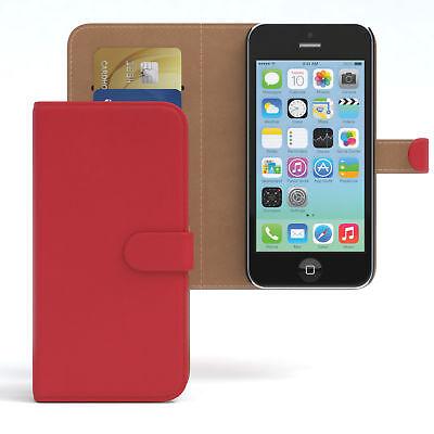 Tasche für Apple iPhone 5C Case Wallet Schutz Hülle Cover Rot