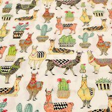 1m Lovely Llamas White Fabric - Michael Miller Cactus Peruvian Peru