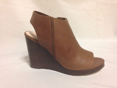 Cole Haan Ripley Wedge Sandals Open Toe Bootie Harvest Brown New with Box