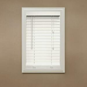 Home Decorators White 2 In Faux Wood Blinds Actual Size 34 5 W X 72 L B Ebay