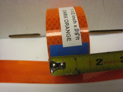 "3M DARK  ORANGE  Reflective   Conspicuity  Tape 1-1//2/"" x 25 ft"