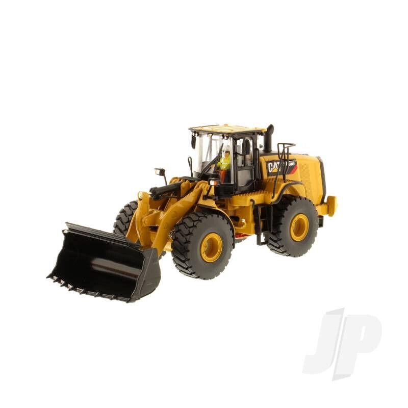 Cochegador de rueda 1 50 Cat 966M, vehículo de construcción de escala Diecast