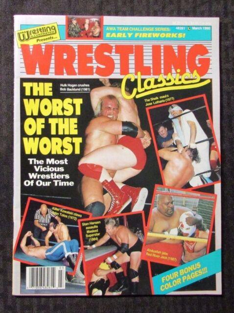 1990 WRESTLING CLASSICS Magazine March VF+ WWF WWE Hulk Hogan Iron Sheik