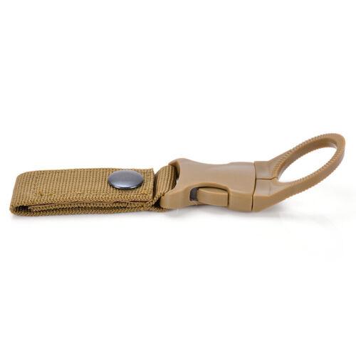 Water Bottle Holder Clip Camping Hiking Outdoor Tactical Hanging Belt Buckle UK