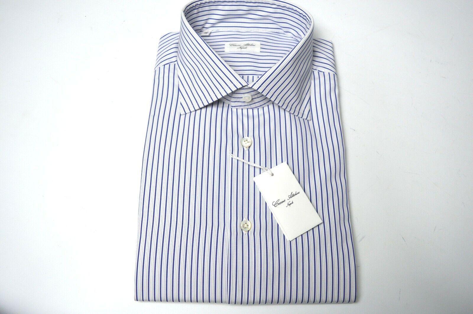 NEW CESARE ATTOLINI  Dress Shirt  Größe 17 Us 43 Eu (Cod AT15)