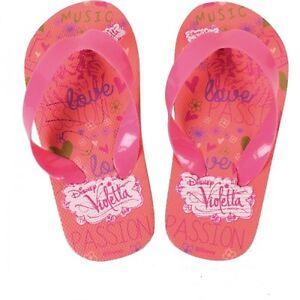 Badelatschen Sandale Sandalette Zehentrenner Kinder Schuh Disney Violetta