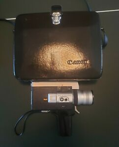 MOTOR-TESTED-Canon-Auto-Zoom-518-Super-8-Camera-With-Original-Vintage-Case