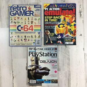 Lot 3 Gaming Magazine Vtg Retro Gamer UK Issue 89 PC Action Emulate Play Station