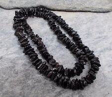 "Baltic Dark Cherry AMBER Nugget Bead Necklace 18"" N42~Silverwave*uk Jewellery"