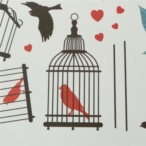 Flowers Birds Birdcage Stickers Decals Wall Art For HomeLiving Room`Bedroom/_b$
