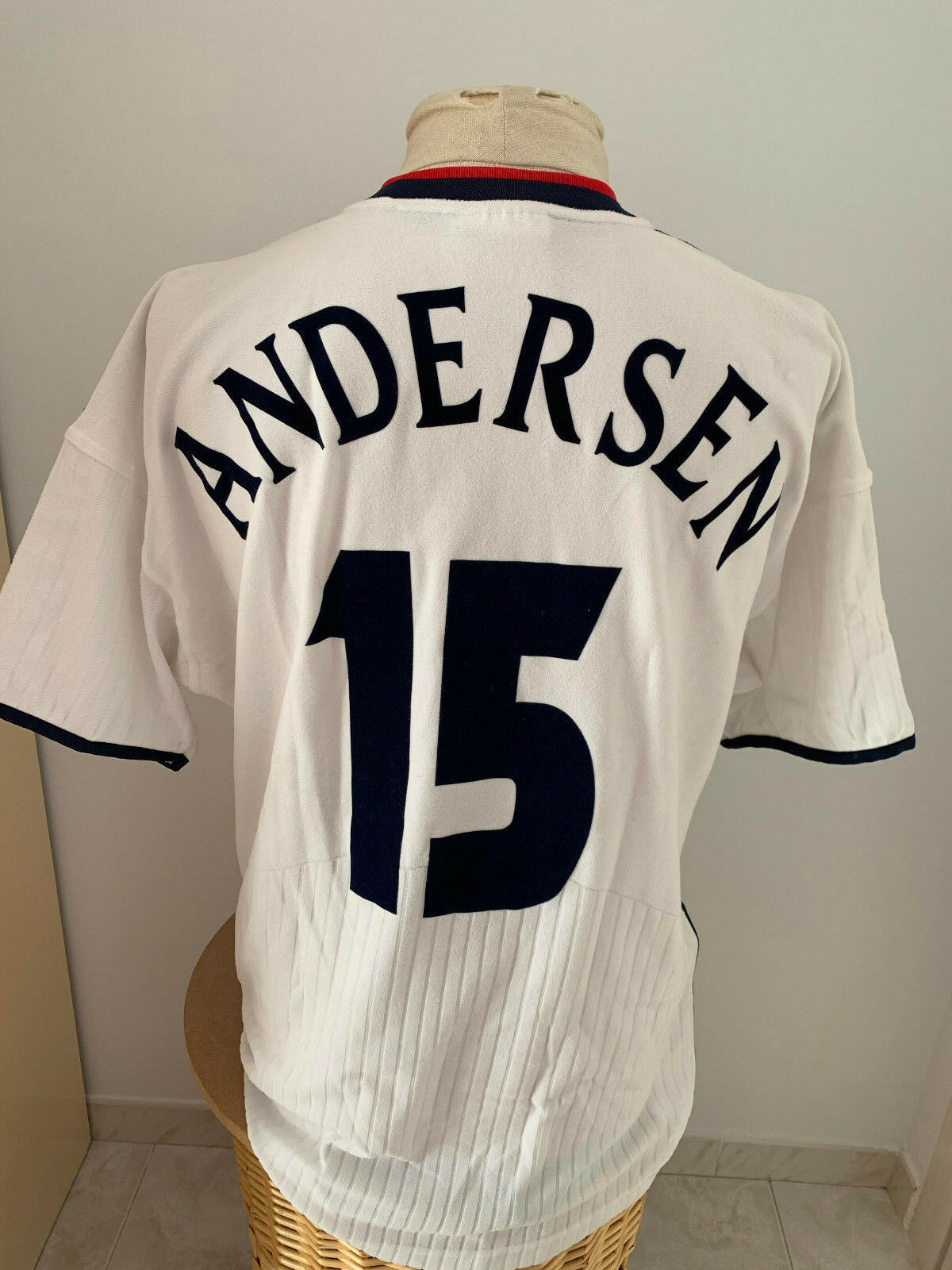 Maglia Norvegia 2000 02 N 15 Andersen match worn jersey Norway camiseta vintage
