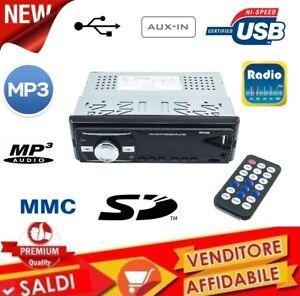 STEREO-AUTORADIO-AUTO-RADIO-FM-MP3-USB-SLOT-SD-MMC-AUX-OROLOGIO-DIGITALE-6248