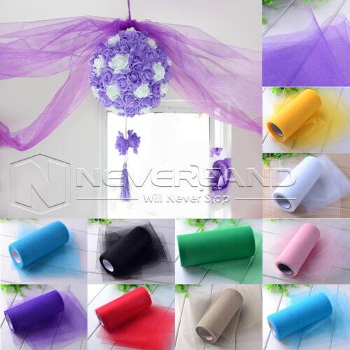 """6/"""" 25Y 100Y Tutu Tulle Roll Gift Bow Craft Bridal Skirt Girl Dress Wedding Decor"""