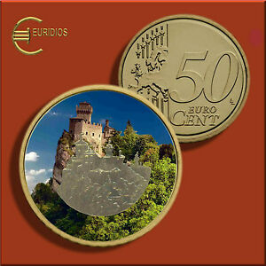 50-Cent-Kursmuenze-San-Marino-untersch-Jahrgaenge-coloriert-Vers-1