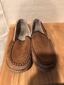 2fcf4889691 Sorel Dude Moc NM2025-242 Tan Suede Wool Casual Slipper Shoes Men s ...