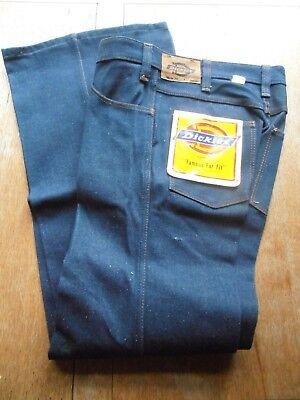 Donna Vintage Dickies Svasato Jeans W 32 L 32 Nuove Deadstock-mostra Il Titolo Originale