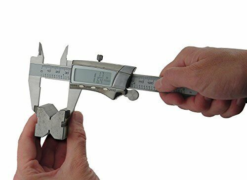 General Tools 147 Digital Fractional Caliper with Extra-Large  LCD Screen 3 M...