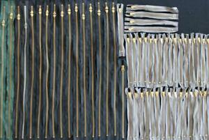 LOT-2-55-PIECES-OF-VINTAGE-1940-039-S-1950-039-S-DEADSTOCK-BRASS-ZIPPERS-24-034-9-034