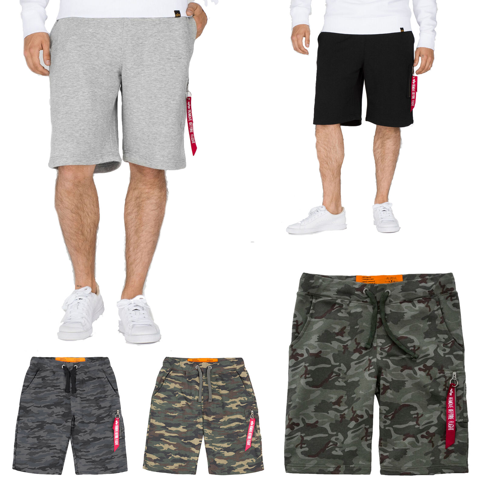 Alpha Industries Men's Shorts X-Fit Cargo Shorts Cargo Trousers Gym Training New