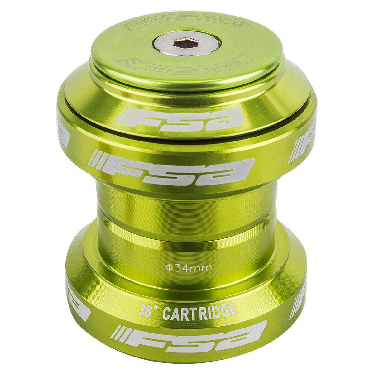 FSA Coloreeosso Orbit MX 1 18 Threadless Anodized Mountain Bike Headset  Cap verde
