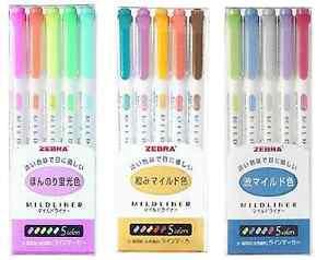 NEW Zebra Mild Liner Color Gel Ink Marker Pen Set WKT7 Free ship from JAPAN