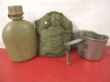 Vietnam Era US Army 1 Quart Canteen, Cup & M1967 Nylon Cover Dated 1974